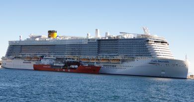 Marseille avitaillement au GNL du Costa Smeralda