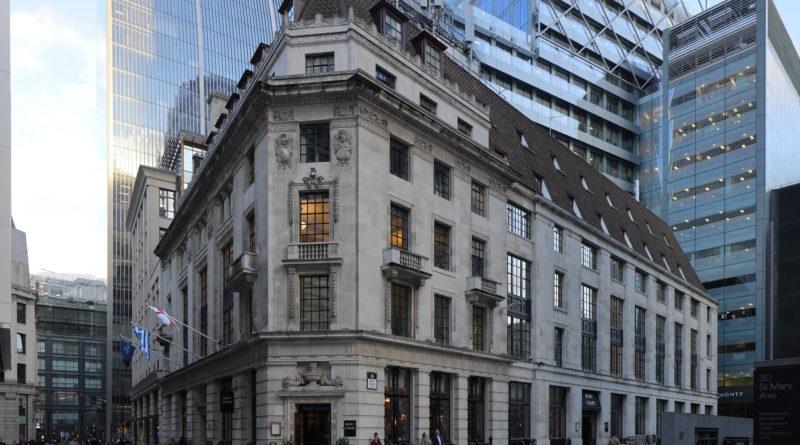 Le bâtiment du Baltic Exchange qui abrite l'association des arbitres maritimes de Londres (LMAA)