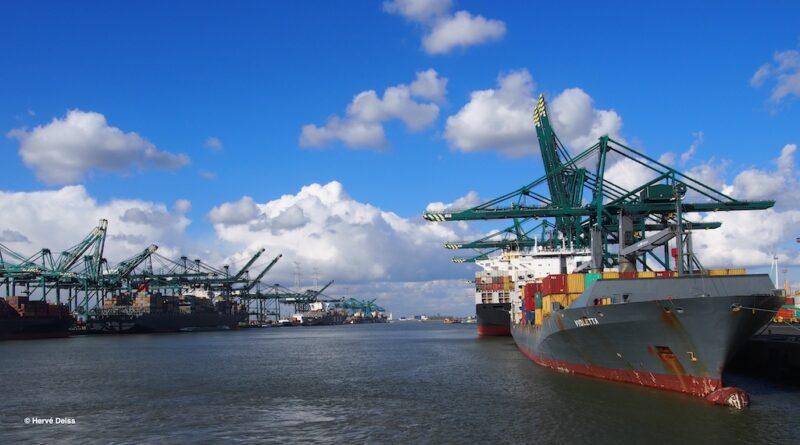 Fusion port Anvers Zeebrugge Conteneurs